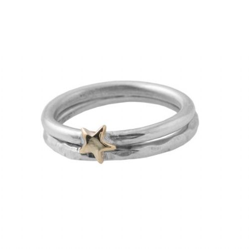 Golden Star And Hammered Ring